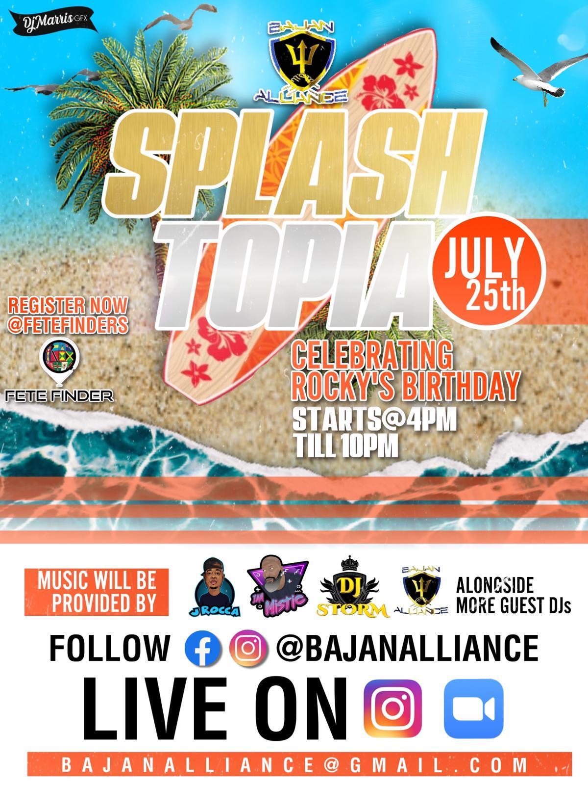 Splashtopia flyer or graphic.