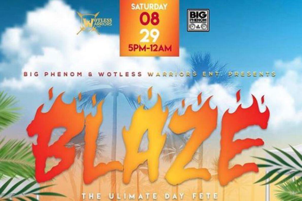 Blaze flyer or graphic.