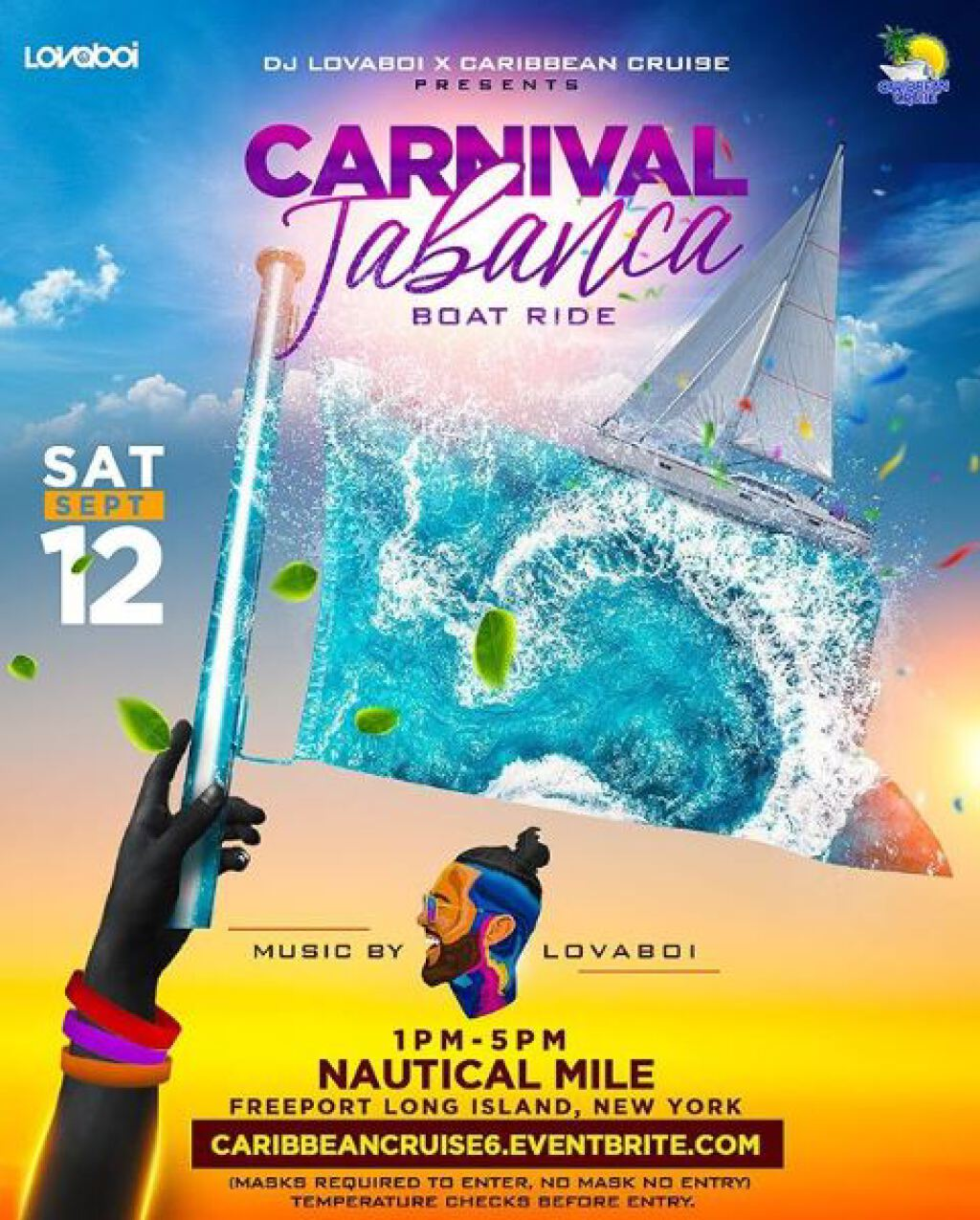 Carnival Tabanca flyer or graphic.
