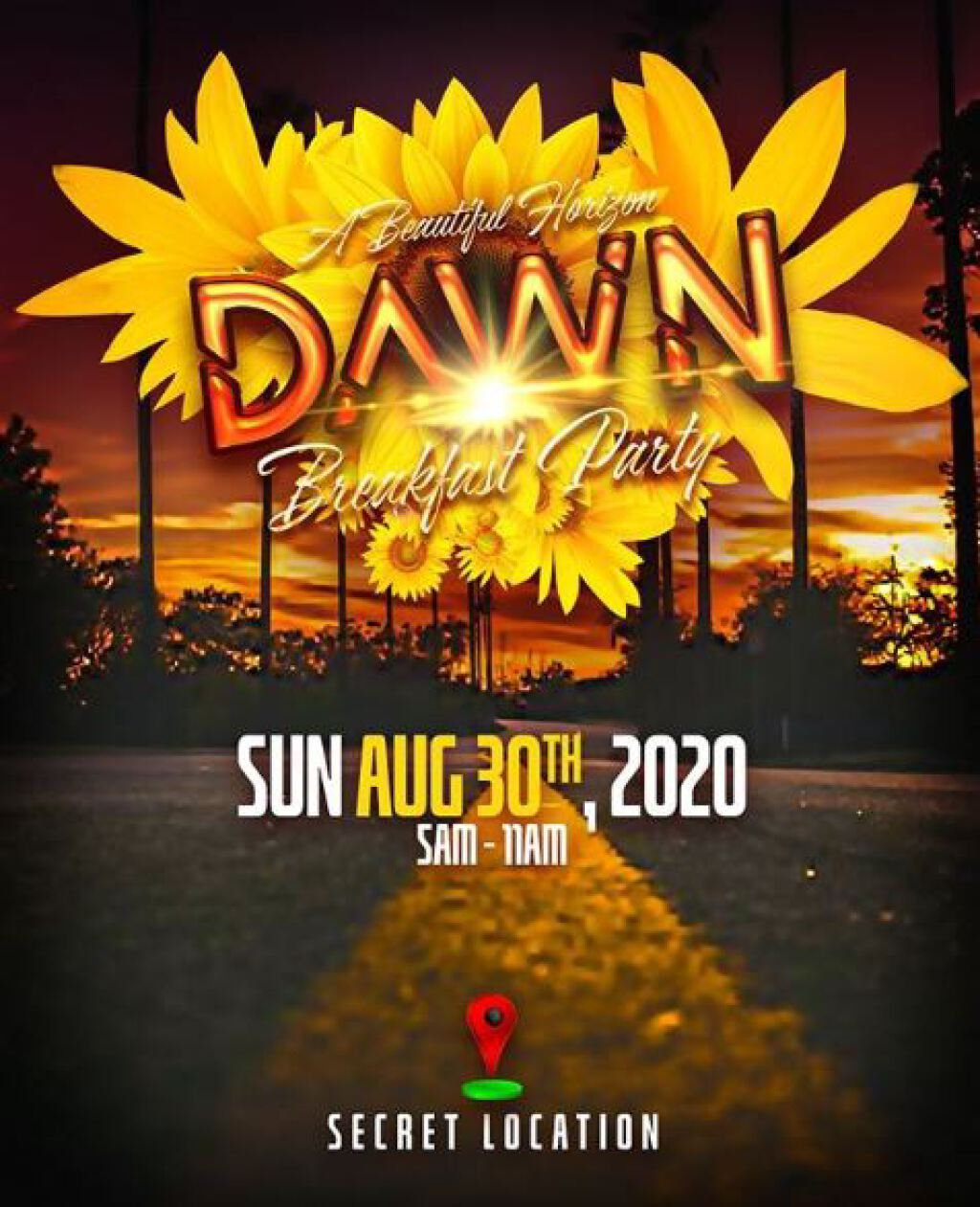 Dawn flyer or graphic.