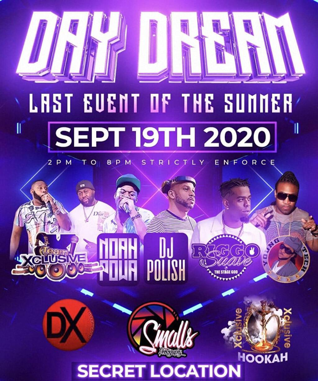 Day Dream flyer or graphic.
