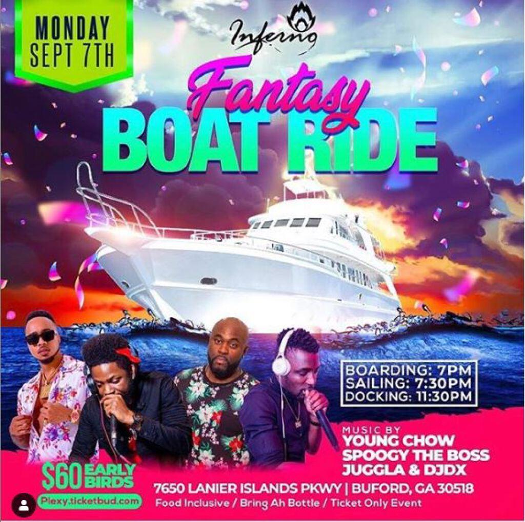 Fantasy Boat Ride flyer or graphic.