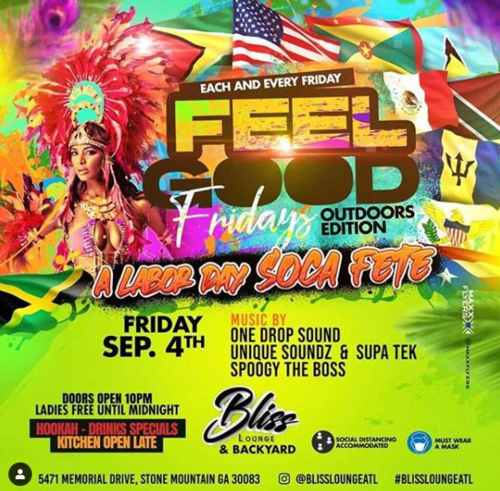 Feel Good Friday flyer or graphic.