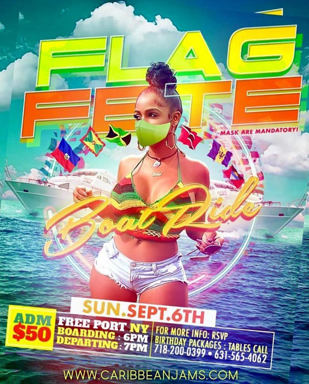 Flag Fete Boat Ride flyer or graphic.