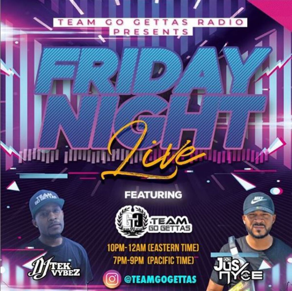 Friday Night Live flyer or graphic.