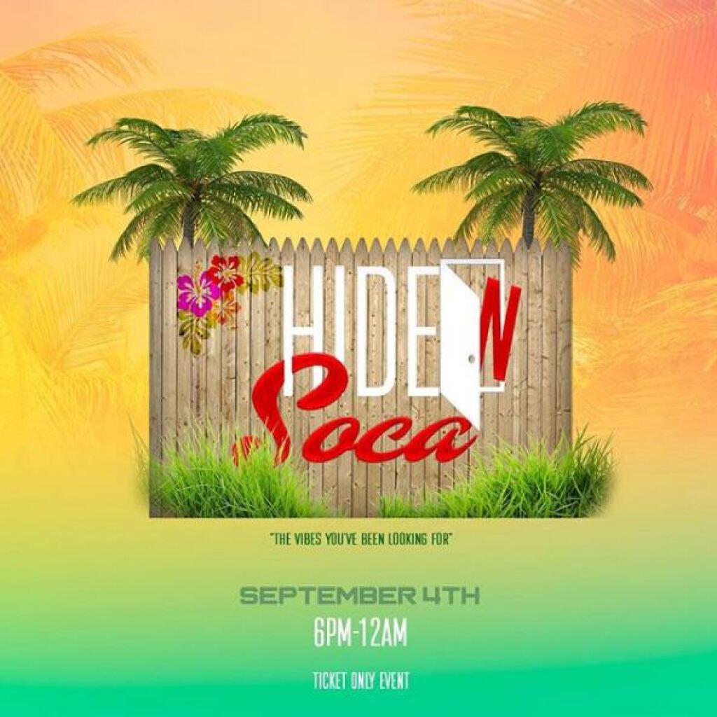 Hidden Soca flyer or graphic.