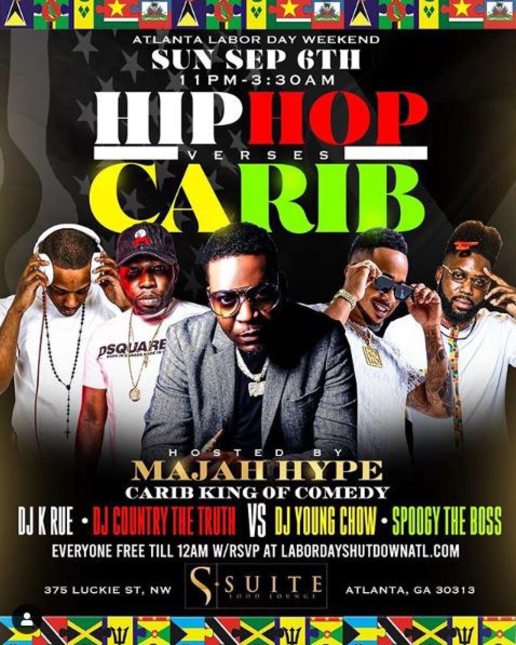 Hip Hop Vs Carib flyer or graphic.