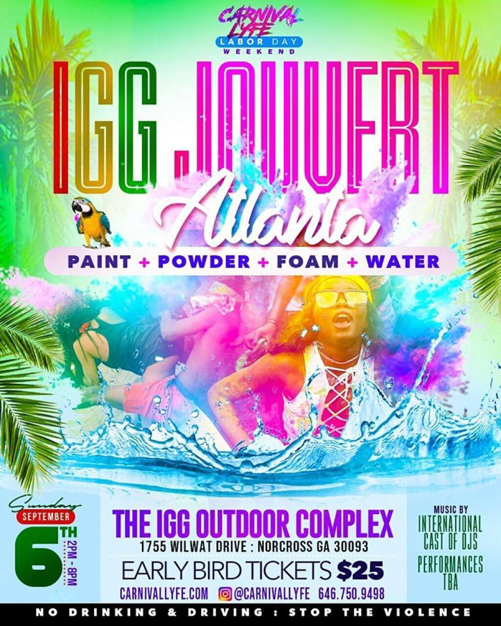 Ice Gold Green Jouvert flyer or graphic.