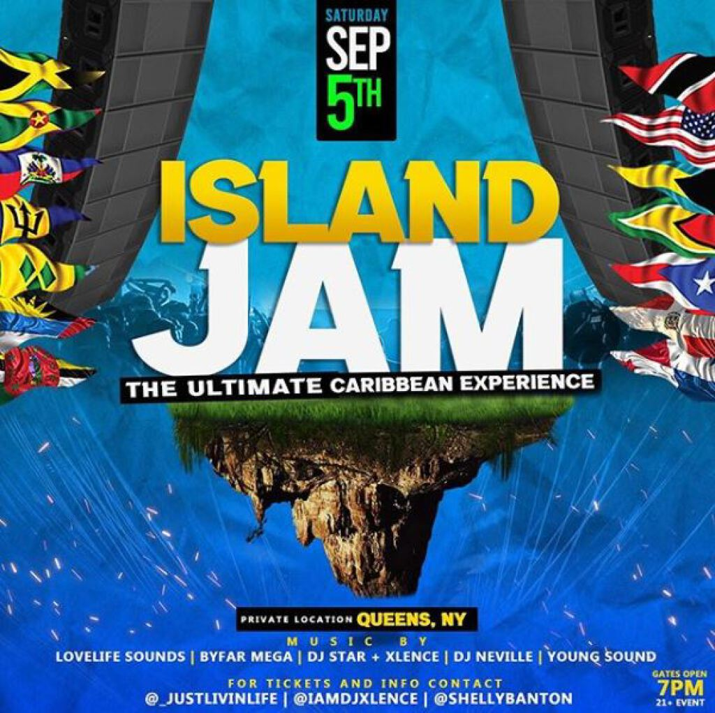 Island Jam flyer or graphic.