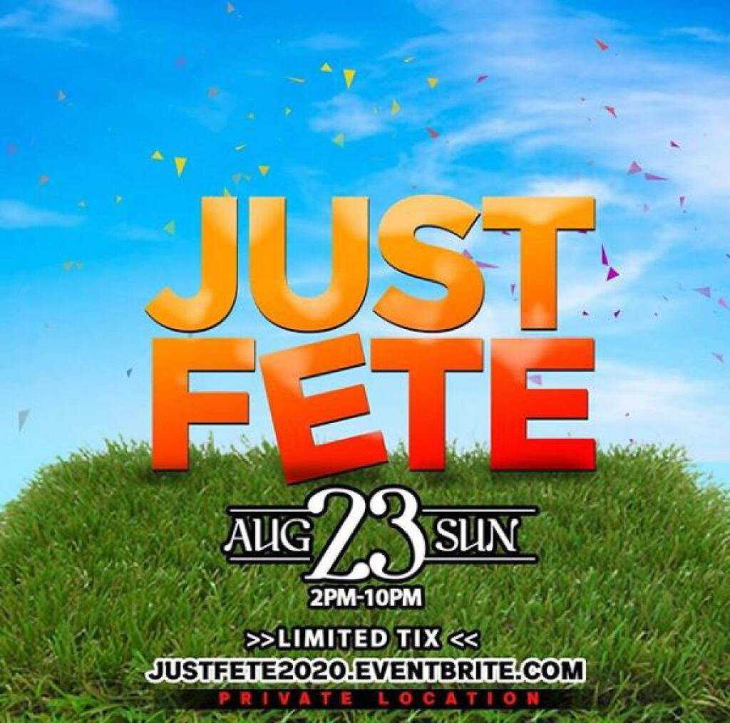 Just Fete flyer or graphic.