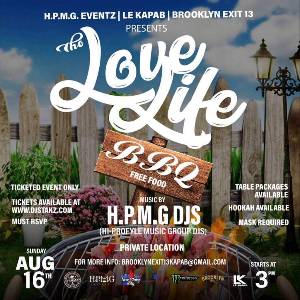Love Life BBQ flyer or graphic.