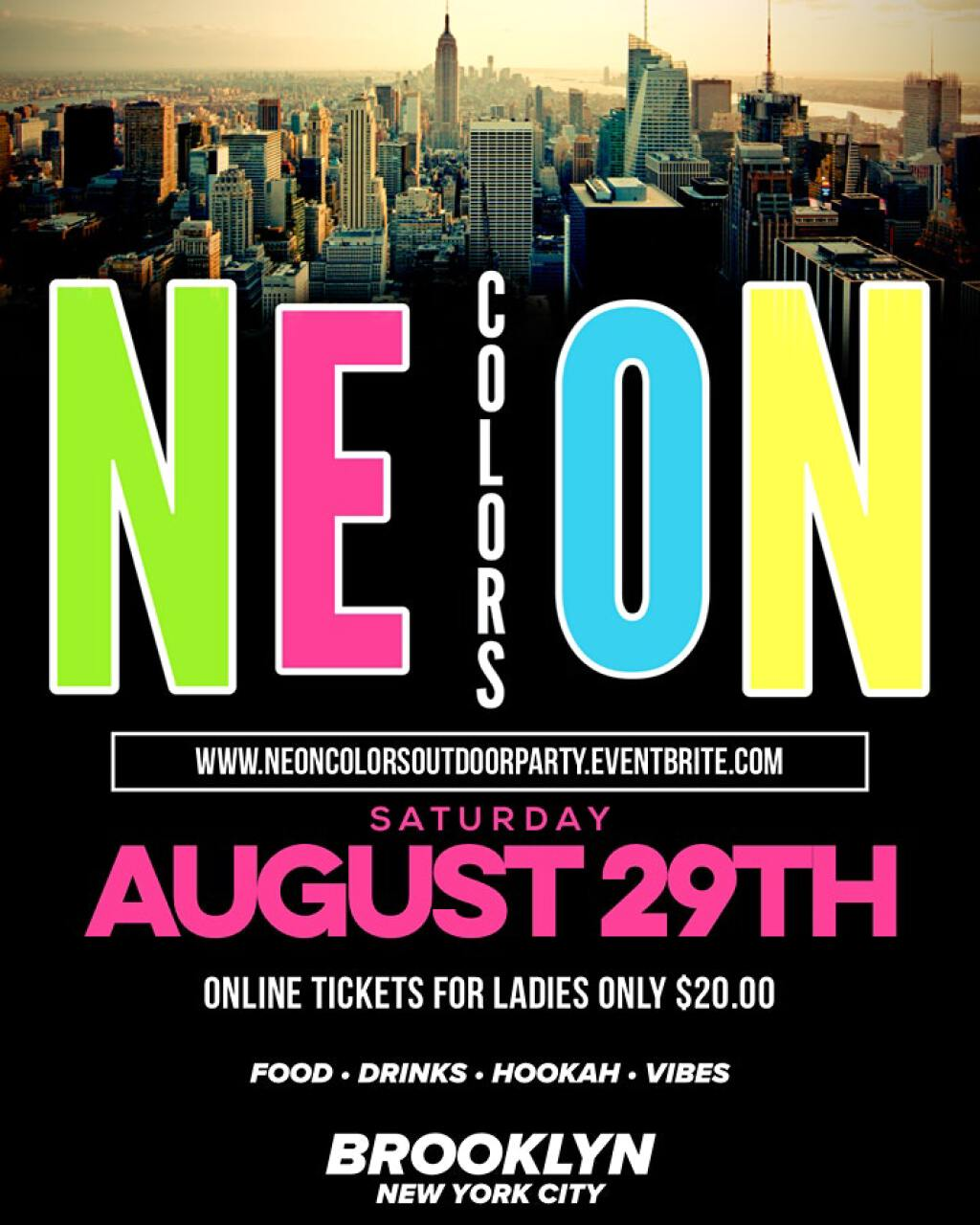 Neon Colors flyer or graphic.
