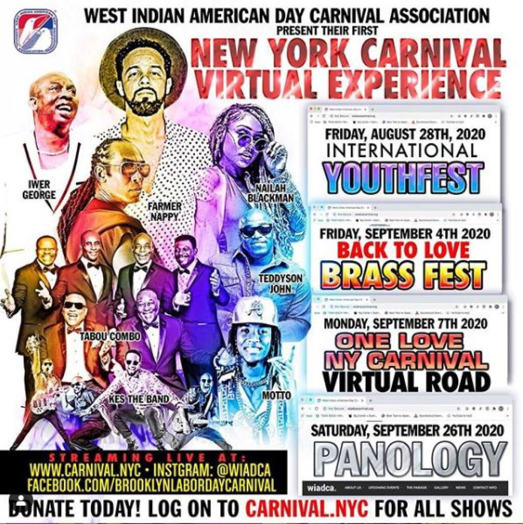 New York Carnival Virtual Experience - One Love Carnival flyer or graphic.