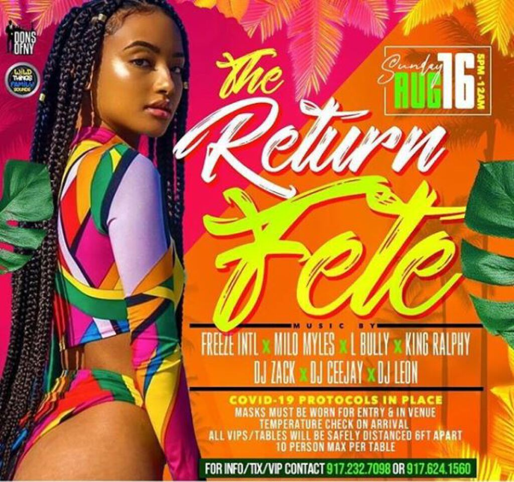 The Return Fete flyer or graphic.