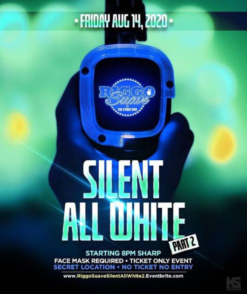 Silent All White 2 flyer or graphic.