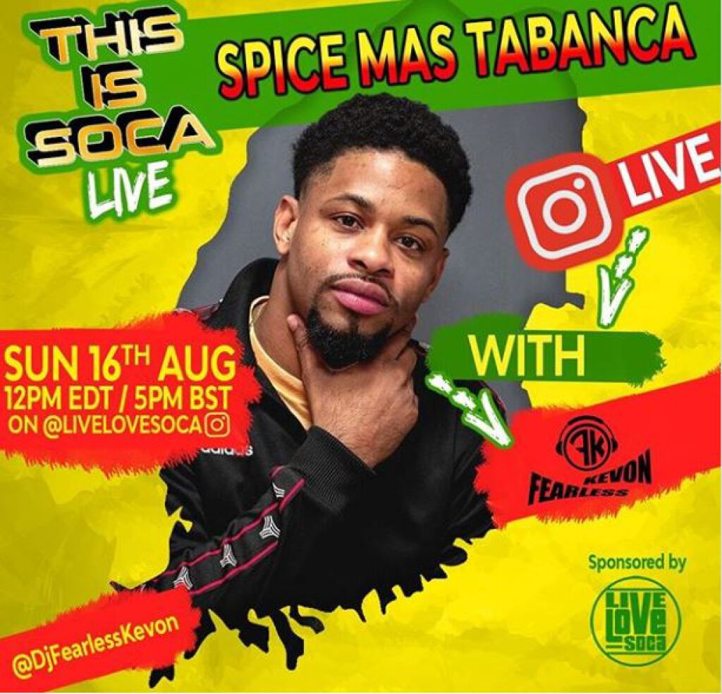 Spice Mas Tabanca flyer or graphic.