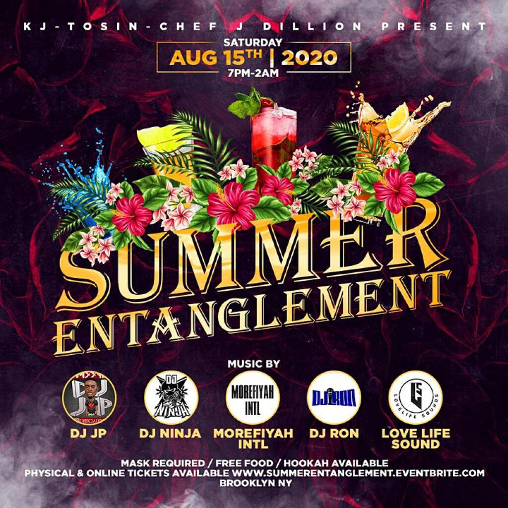 Summer Entanglement flyer or graphic.