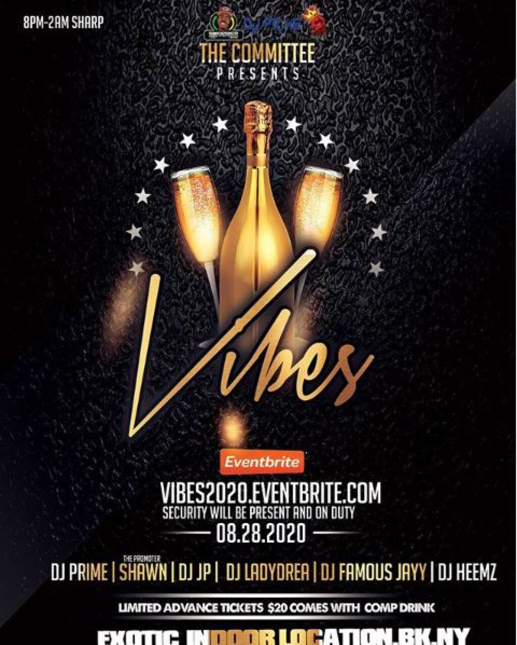 Vibes flyer or graphic.