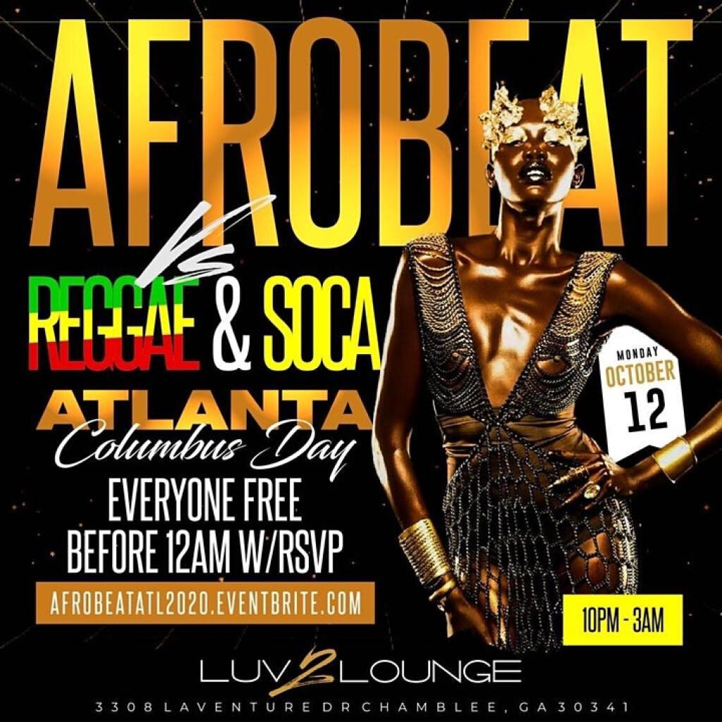 Afrobeat Vs Reggae & Soca flyer or graphic.