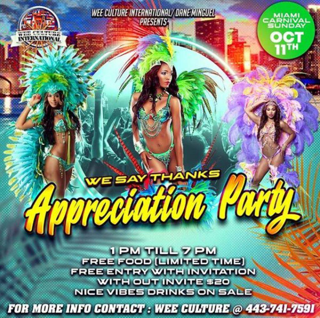 Appreciation Party flyer or graphic.