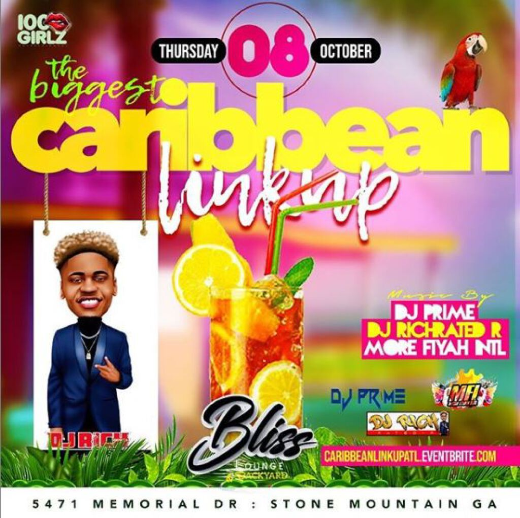 Caribbean Link Up flyer or graphic.