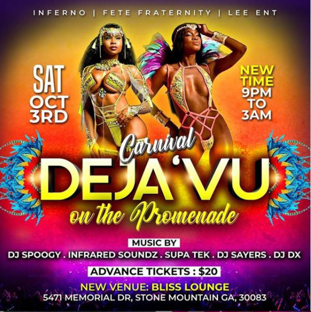 Carnival Deja Vu flyer or graphic.