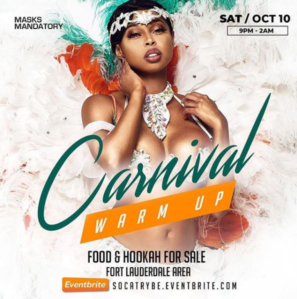 Carnival Warm Up flyer or graphic.