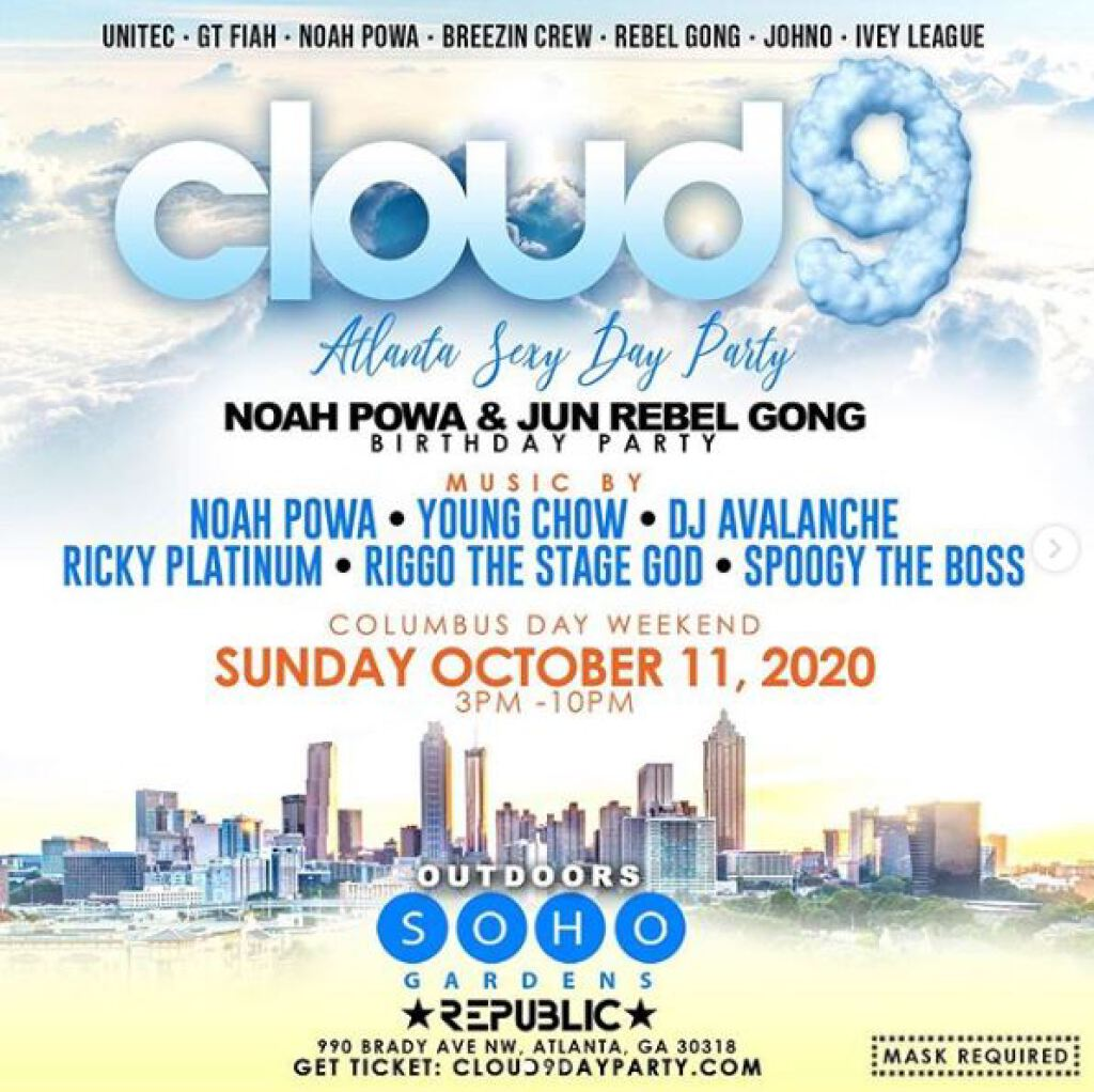 Cloud 9 flyer or graphic.