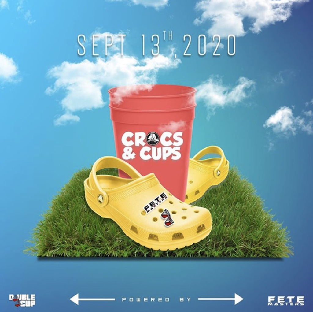 Crocs N Cups flyer or graphic.