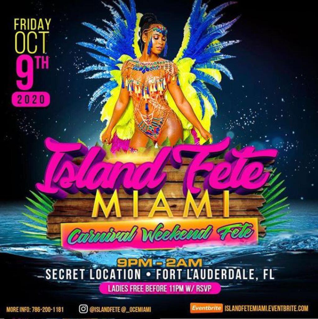 Island Fete Miami flyer or graphic.
