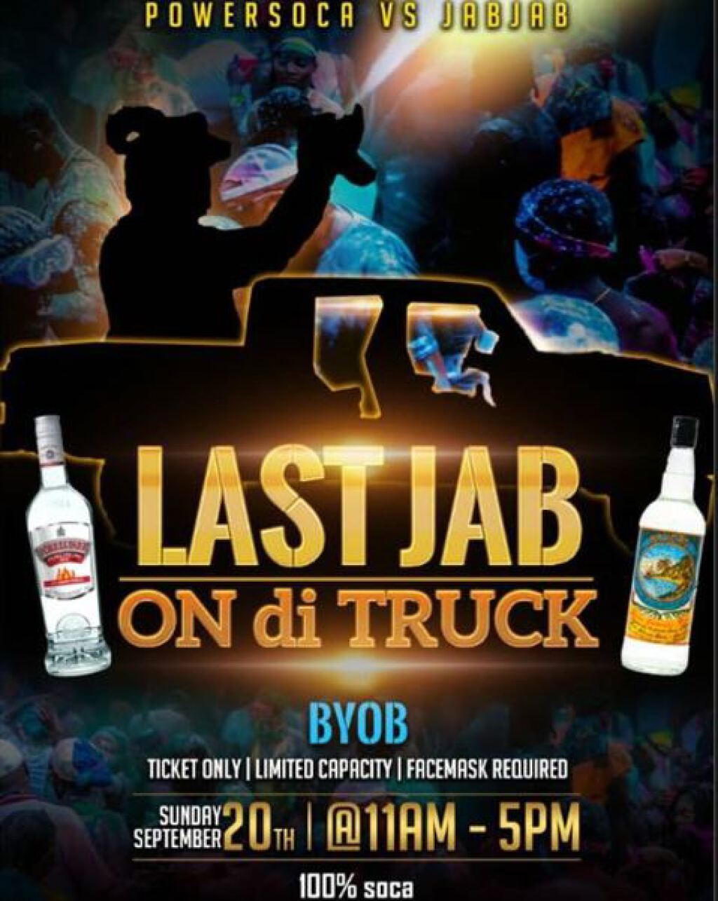 Last Jab On Di Truck flyer or graphic.