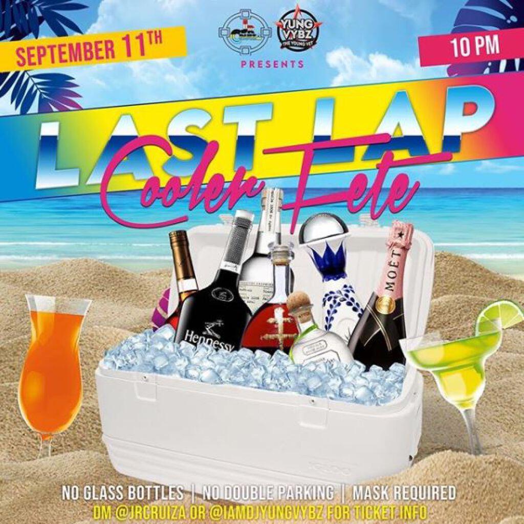 Last Lap Cooler Fete flyer or graphic.