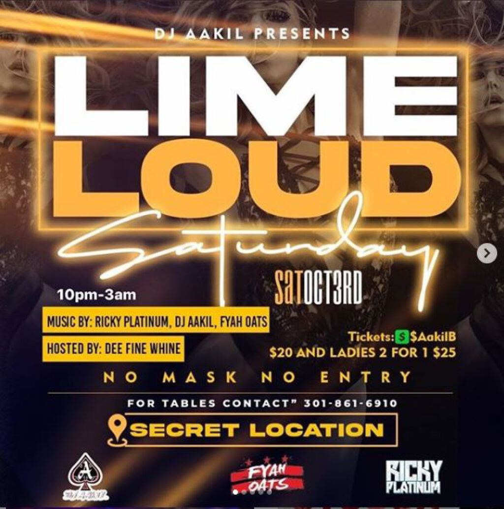 Lime Loud Saturdays flyer or graphic.