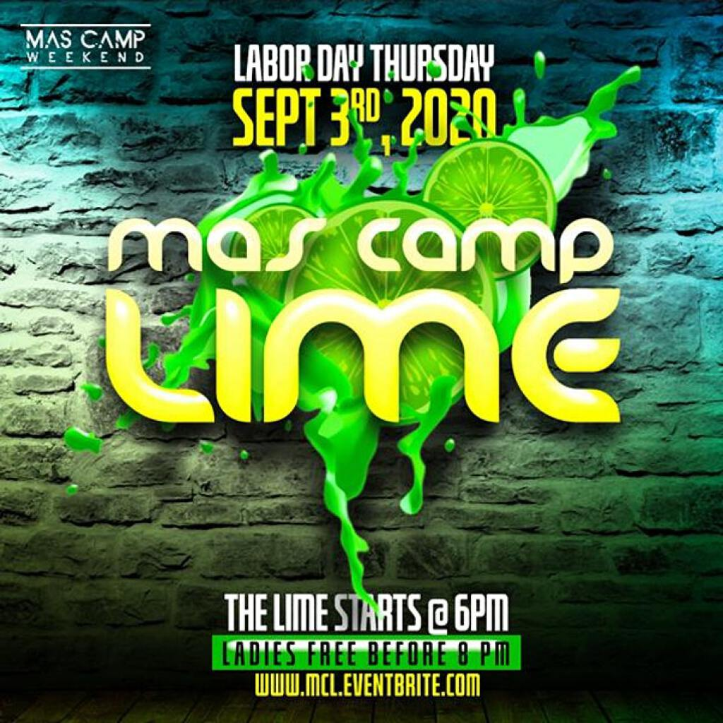 Mas Camp Lime flyer or graphic.