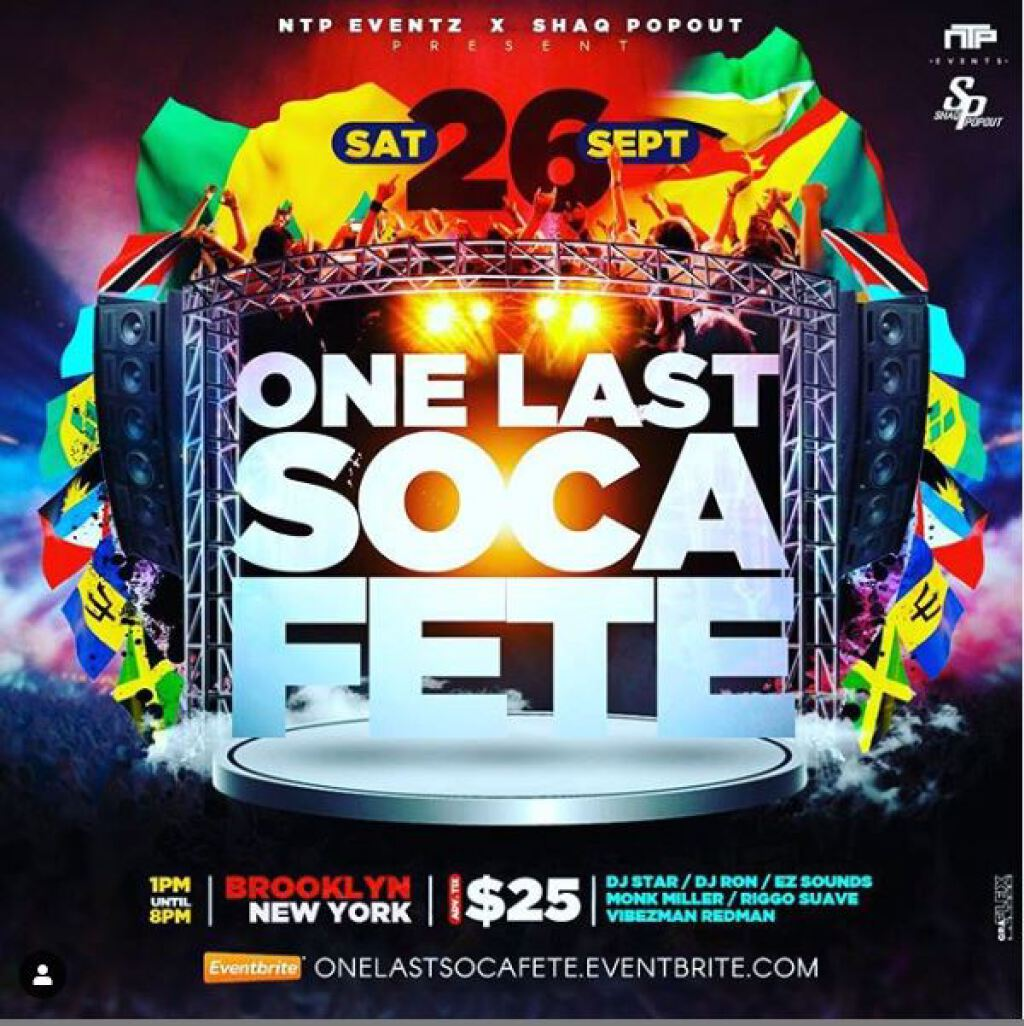 One Last Soca Fete flyer or graphic.