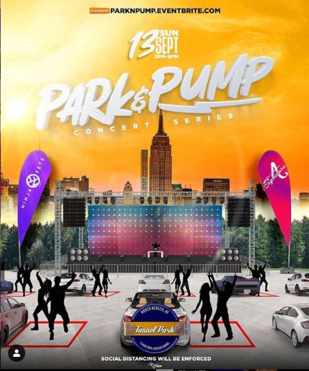 Park & Pump Concert Series flyer or graphic.
