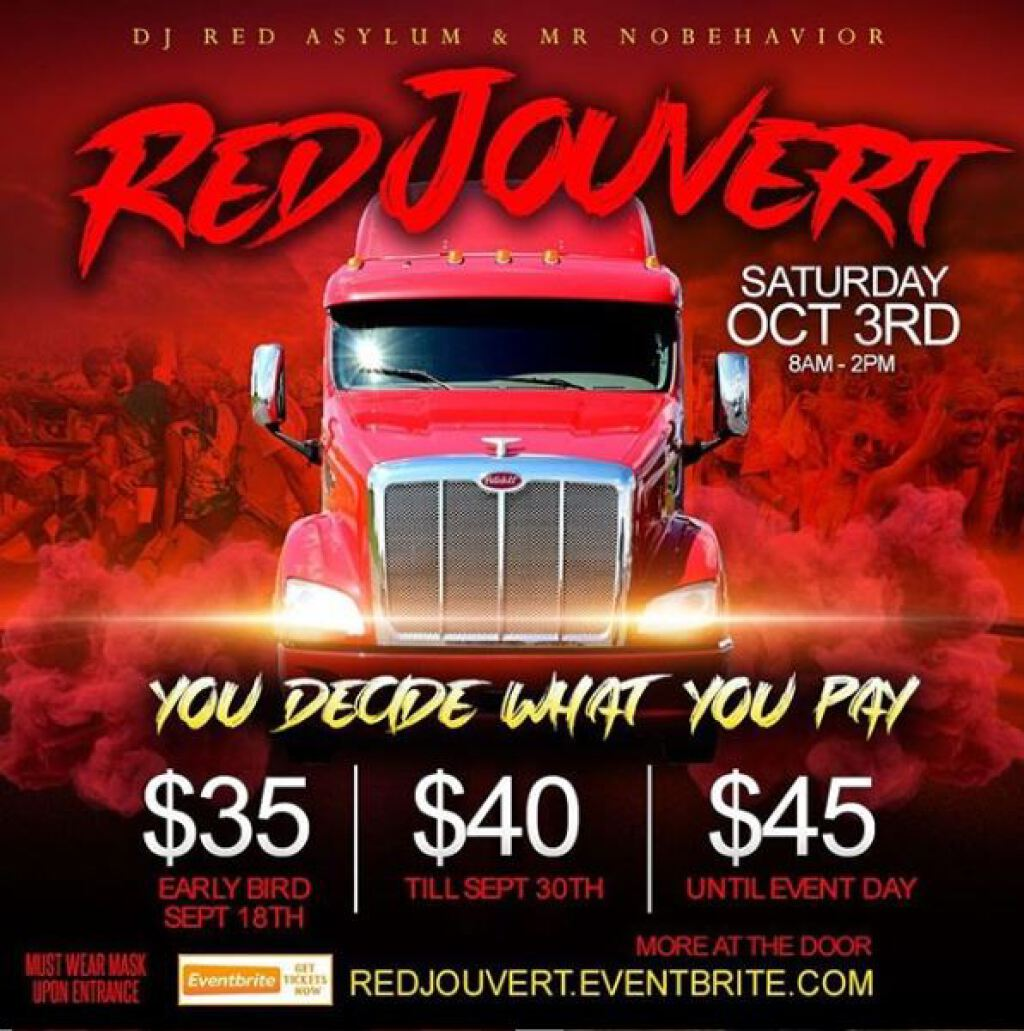Red Jouvert flyer or graphic.