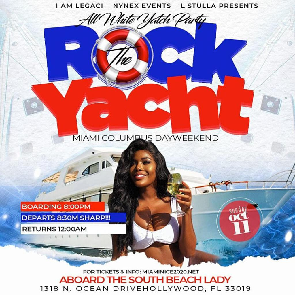 Rock The Yacht flyer or graphic.