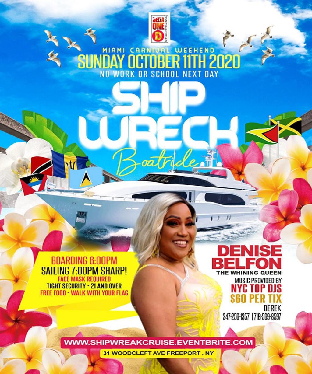 Ship Wreck Boatride flyer or graphic.