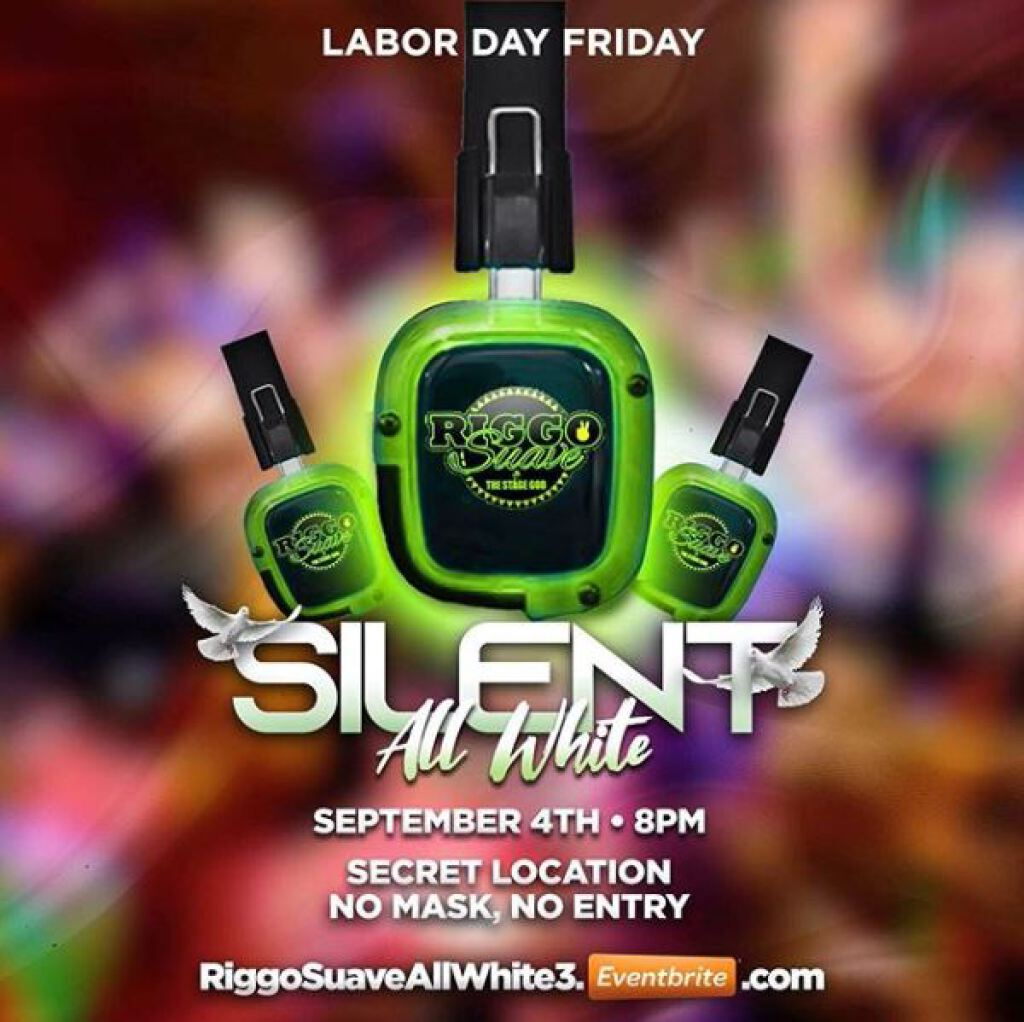 Silent All White 3 flyer or graphic.