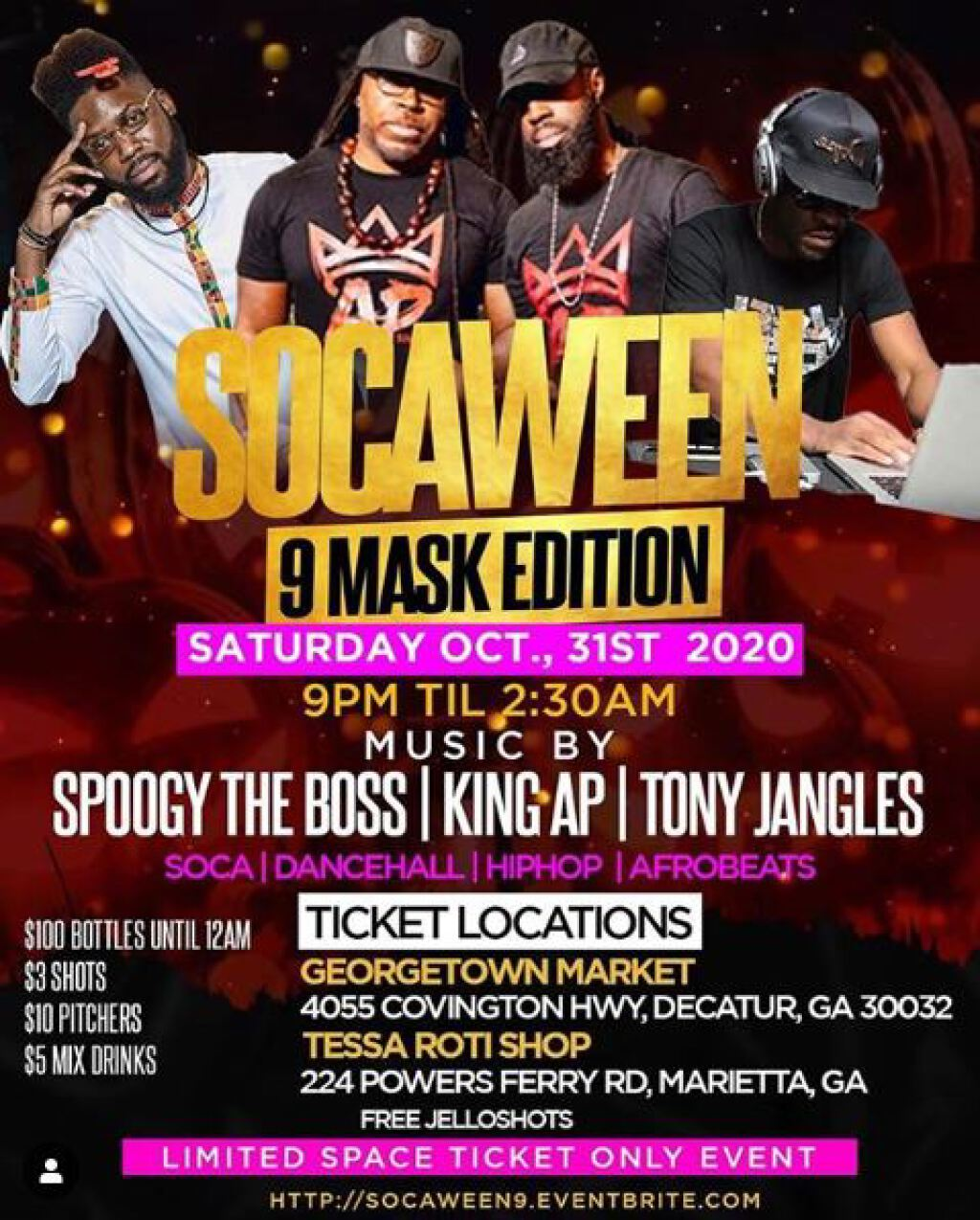 Socaween 9 flyer or graphic.