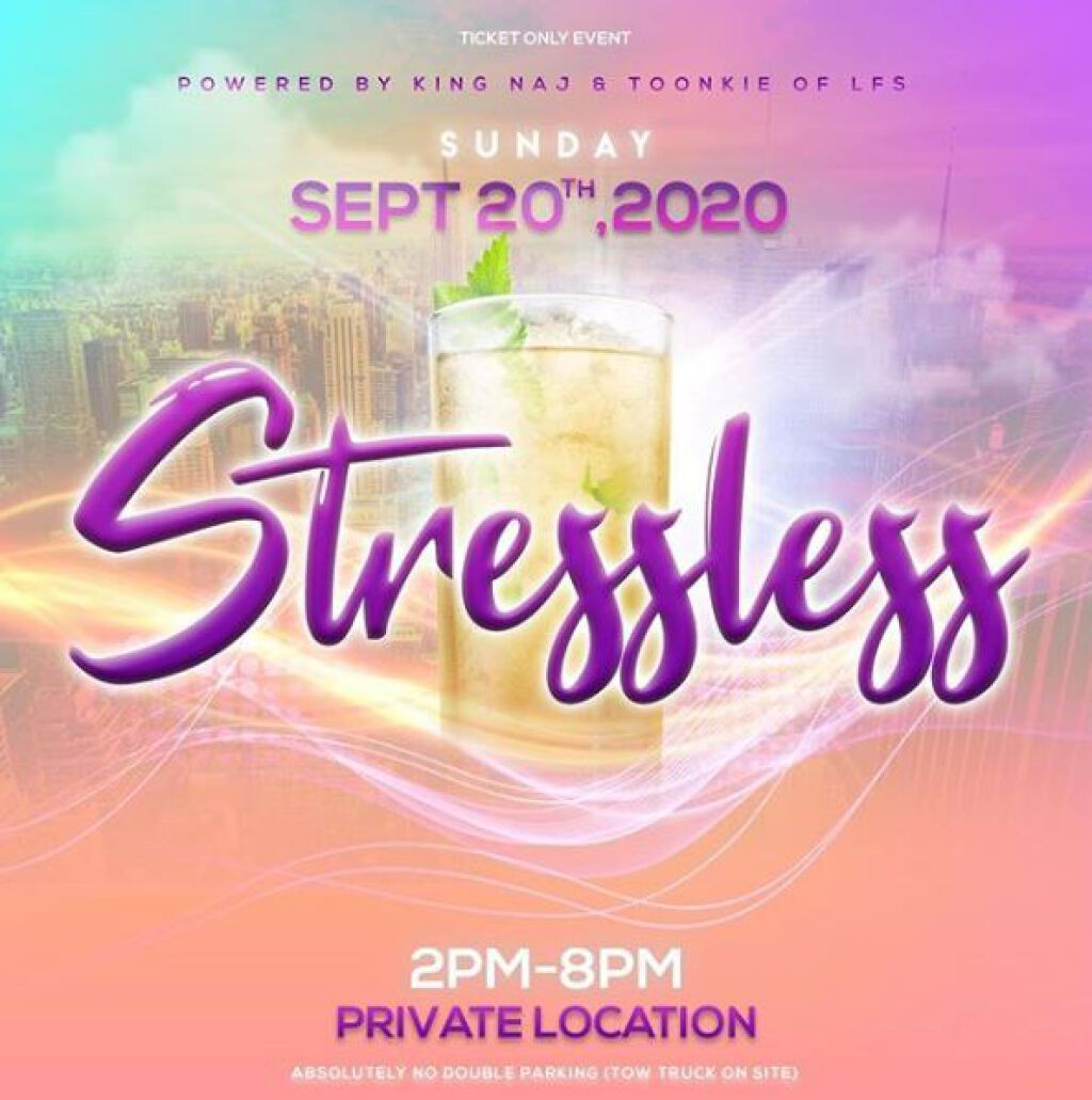 Stressless flyer or graphic.