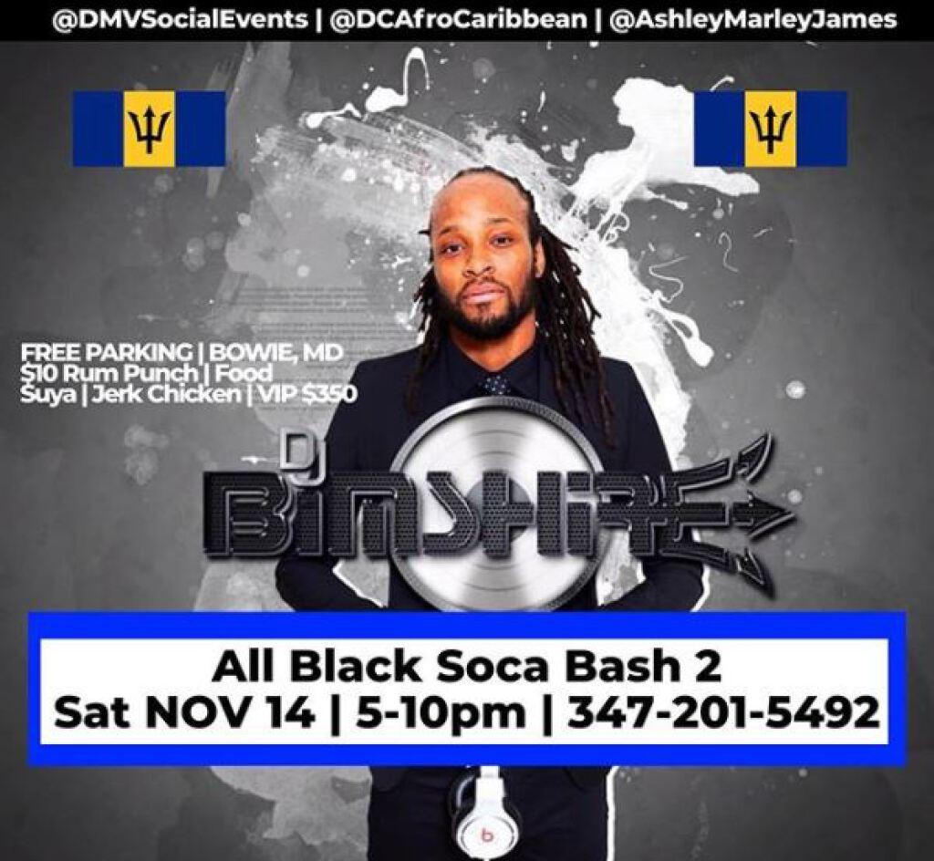 All Black Soca Bash 2 flyer or graphic.