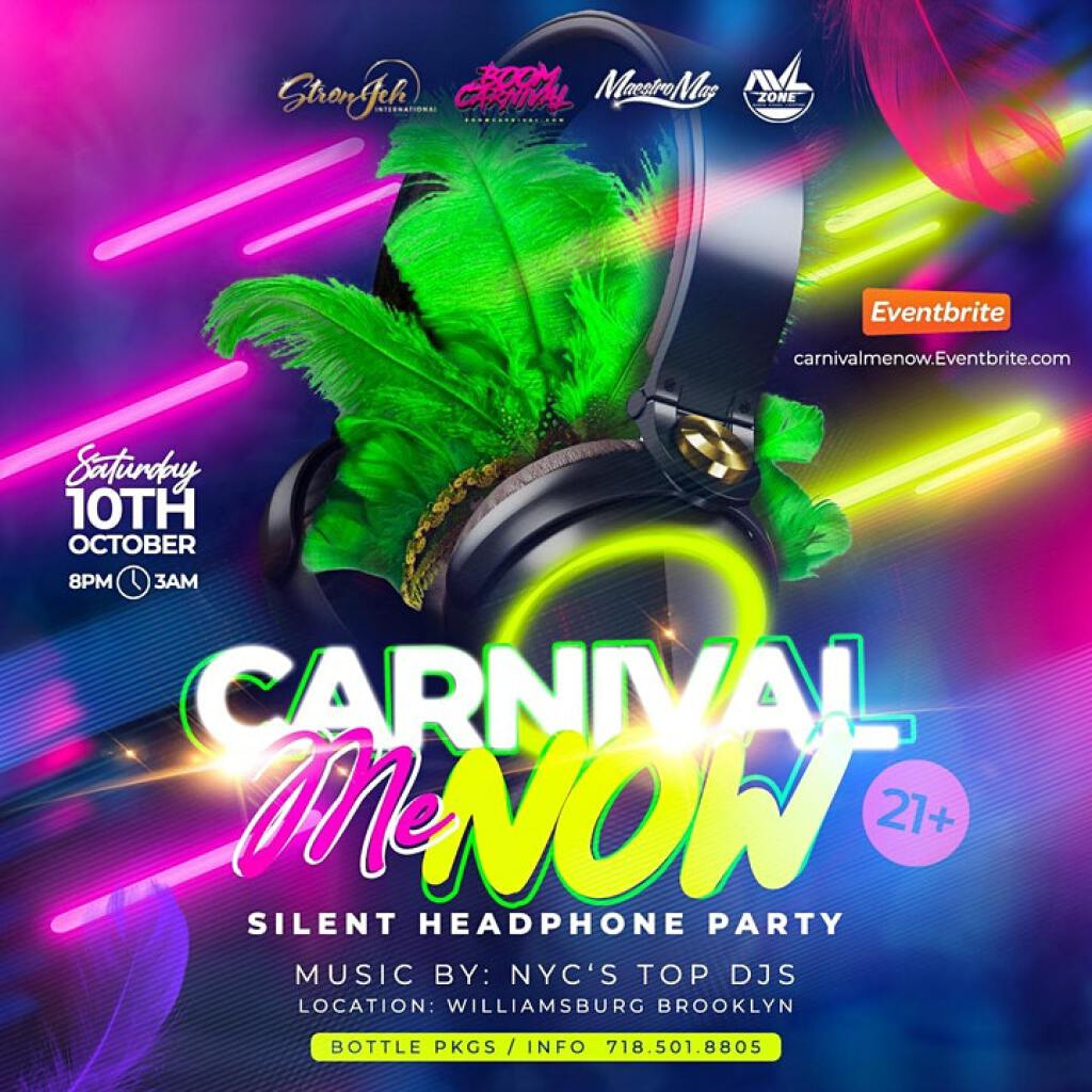 Carnival Me Now flyer or graphic.