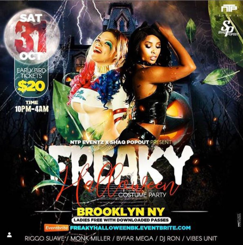 Freaky Halloween: The Costume Party flyer or graphic.