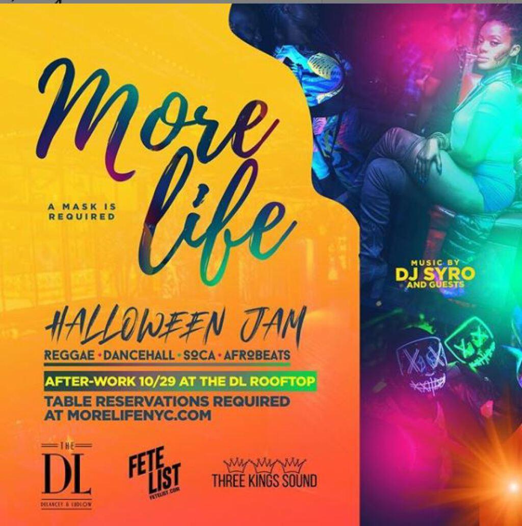 Halloween Jam flyer or graphic.