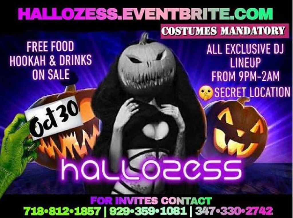 Hallozess flyer or graphic.
