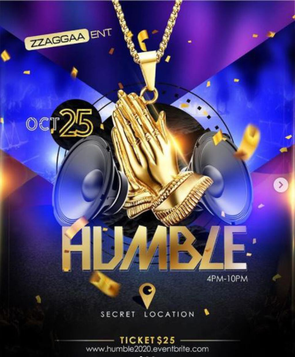 Humble  flyer or graphic.