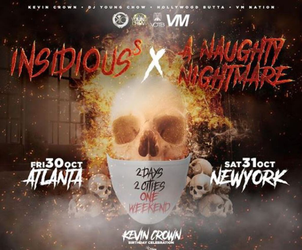 Insidious 8 & A Naughty Nightmare flyer or graphic.