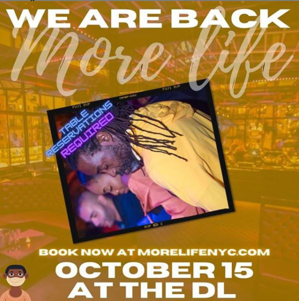 More Life Dinner & Vibes flyer or graphic.